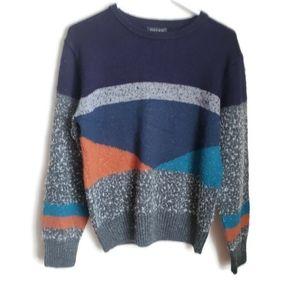 ZARA MAN   Colorblock retro sweater